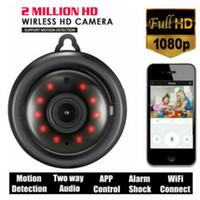 ev kameraları gizleme toptan satış-Mini IP Kamera Kablosuz WiFi HD 1080P Ev Güvenlik Kamera Gece Görüş Gizli Ev