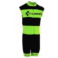 Wholesale professional cycling shorts for sale - Group buy CUBE Men Triathlons Cycling Jerseys Sleeveless Bike Skinsuit Bicycle Clothing Professional Wear For Swimming Running Riding