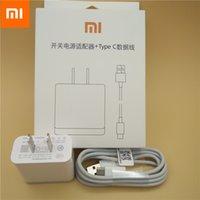 cargador rápido para iphone 4s al por mayor-Xiaomi original mi6 cargador rápido QC 3.0 Adaptador de carga rápida USB tipo C Cable para mi mezcla a1 max 2 6 5 5s 4c 4s redmi Pro Plus