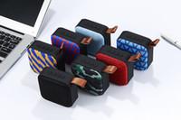 caixa de entrada venda por atacado-2019 sem fio Bluetooth Mini Speaker Portátil Cartão Aux entrada USB Box Subwoofer Mobile Audio com Mic e Retail Box