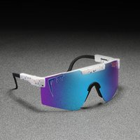 Wholesale google sunglasses resale online - Original Pit Viper Sport google TR90 Polarized Sunglasses for men women Outdoor windproof eyewear UV Mirrored lens Y200415