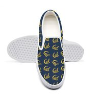schuhe kalifornien groihandel-Casual California Golden Bears Football blau Unisex Canvas Einzigartige Anti-Rutsch-Schuhe entwerfen Druck-Klassiker Limited Edition gelb Wisconsin