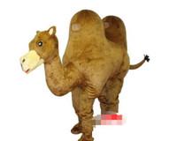 vestindo traje de mascote venda por atacado-Especial personalizado camelo traje da mascote desgaste duplo frete grátis