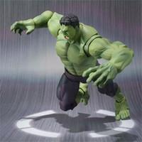 Wholesale boys super heroes resale online - Hulk Action Figures Avengers Mould For Children Boy Mini Statue Super Hero High Quality Collection Comics Favor fc D1