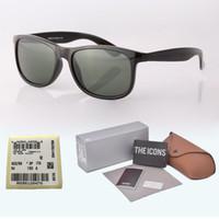 en iyi bilgisayar vakaları toptan satış-En iyi kalite Marka Tasarımcısı Güneş Erkek Kadın Tahta Çerçeve G15 degrade Cam Lens Perakende kılıfları ve etiket ile óculos de sol