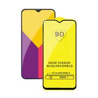pegamento de película al por mayor-9D 5D 6D Full Glue Full Cover protector de pantalla de vidrio templado Película para Samsung S10E Galaxy M10 A10 A20 A30 A40 A50 A70 A90 J2 Core A2 Core