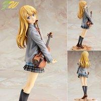 bonecas japonês figurines venda por atacado-figura de ação sua mentira em abril kaori Miyazono cartoon boneca 20 centímetros PVC caixa-embalados japonês estatueta mundo anime 1.601.107 T190925