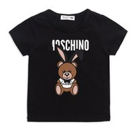 Wholesale t tops for girls resale online - 2019 Summer kids clothes Printed round neck Shirts For baby boys girls Tops Brand T Shirt children Clothing Short Sleeve tee boy Tops