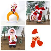 juguetes bailando santa al por mayor-Eléctrica de Santa Claus muñeca Baile del canto de música de juguete automática linda Navidad de la felpa juguetes de la muñeca Feliz Navidad Decoración T2I5541