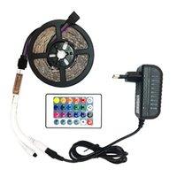 mavi ışık bandı toptan satış-SMD 2835 5M Su geçirmez RGB Led Şerit Işık DC12V 60 Leds / M Esnek Aydınlatma Şerit Bant Beyaz / Sıcak Beyaz / Mavi LED Şeritler