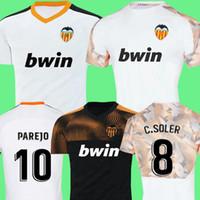 valencia fußballhemd großhandel-Neu 2019 2020 Valencia Soccer Jersey Unterhemd Valencia 19 20 Bestes 3A-Qualitäts-Fußballtrikot Parejo Batshuayi Gameiro