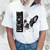 ingrosso magliette coreane divertenti-Maglietta Bulldog francese Maglietta femminile da donna maglietta superiore femme cartoon Harajuku kawaii korean Funny ulzzang vestiti tshirt