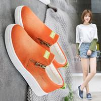 Wholesale denim korean canvas shoes for sale - Group buy Hot Sale women s casual shoes spring and summer Korean canvas shoes fashion casual solid color denim women s shoes