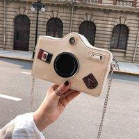 ingrosso borse messaggero delle ragazze europee di moda-Europea Forma fotocamera Fashion Messenger Bags caldo di vendita della pelle verniciata delle borse Flap Per Ragazze femminile catena di spalla Crossbody Borse