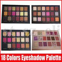 eyeshadow palette venda por atacado-Beleza Eye Makeup Eyeshadow 18 cores Eye sombra textura Paleta de Sombra Matte Shimmer Novas sombras Nudez