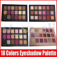 augenschatten groihandel-Schönheits-Augen-Make-up Lidschatten 18 Farben-Augenschatten Strukturierter Lidschatten-Palette Mattschimmer Nude Schatten