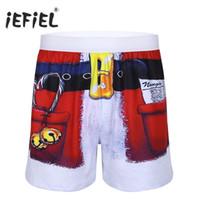 ingrosso costumi natali maschili-Mens Fun Prints Shorts per vacanze natalizie Costume Boxer Shorts Sportivo sciolto corto casual per uomo