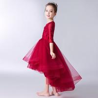 fleabane rock großhandel-Prinzessin bitteres Fleabane bitteres Fleabane-Garn zeigt Kinder kleiden kleine Wirt Kostüme Blumenmädchen Kleid Rock