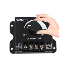 weißes geführtes streifenlichtdimmer großhandel-12V 30A 360W einfarbiger LED-Dimmer-Controller für 3528 5050 5630 3014 warme kühle weiße LED-Streifen-Lichter