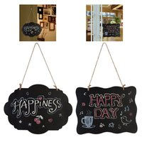 Wholesale bamboo colour for sale - Group buy Diy Lanyard Blackboard Erasable Write Home Furnishing Wood Primary Colour Message Board Portable Universal With High Quality xw J1