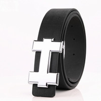 Wholesale brand designer h buckle belts men resale online - 2019 New Brand Designer H Belts Men High Quality Mens Belts Luxury Genuine Leather Pin Buckle Casual Belt Waistband