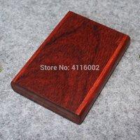 tarjetero de madera al por mayor-Pequeña caja de palisandro Caja de madera para el titular de cigarrillos Tarjetas de presentación de negocios Caja de almacenamiento de caja de bolsillo de madera