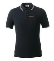 en düşük fiyatlı gömlekler toptan satış-Yeni varış 2019 yaz yeni kıdemli erkek polo gömlek PLD marka tasarım erkekler rahat baskı polo gömlek pamuk mağaza aktivite düşük fiyat