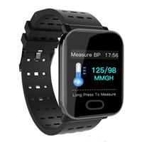 yeni fitness bandı toptan satış-Yeni Varış A6 Fitbit Spor Akıllı Bant Kan Basıncı Akıllı Bilezik Kalp Hızı Monitörü Kalori Tracker IP67 Su Geçirmez Bileklik Izle