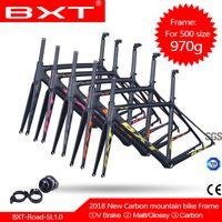 carbon rennrad rahmen super großhandel-Chinesischer Carbon-Aero-Road-Rahmen Di2-Carbon-Rennrad-Rahmen 500/530 / 550mm - Superleichter Rahmen + Gabel + Headset-Carbon-Cyclocross-Rahmen