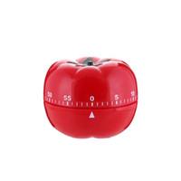 temporizador de forma al por mayor-Timer mecánico Timer de cocción ABS Tomate Shape Timers para la cocina en casa 60 minutos de alarma Cuenta atrás herramienta
