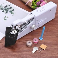 Wholesale household mini sewing machine for sale - Group buy Portable Mini Hand Sewing Machine Household Cordless Electric Stitch Needlework Set for Quick Repairs DIY Clothes Stitchin