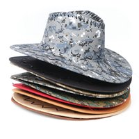 cowboy-stil frauen groihandel-Camouflage Western-Cowboy-Hüte Männer Frauen Sonnenblende Outdoor Angeln Camping-Reise Retro Cap 4 Style HHA1045