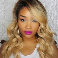 Wholesale wig curly 27 for sale - Group buy Ombre b Human Hair Wig Remy Brazilian Lace Front Human Hair Wigs Pre Plucked Density Lace Front Wig For Black Women