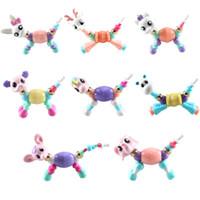 детские шарики оптовых-Любовь духа переменной формы пэт браслет смола деформации животных бисер браслет для детей дети B0166