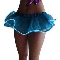 vêtements led pour femmes achat en gros de-Mode Femmes Chaude LED Allumer Tutu Stage Jupe Courte Clubwear Mini Jupes Vêtements TC21