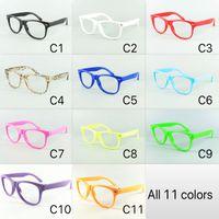 9edcf6196 11 Pure colorido para crianças Nerd Eyewear Frame crianças óculos de sol  Fram sem lentes Baby Party óculos DHL remessa grátis