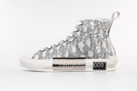 zapatos de lona para hombre al por mayor-NUEVAS 19SS Flores Técnicas de Lona B23 High Top Sneakers en Oblique Mens zapatos de diseño de lujo para mujer Moda zapatillas de deporte zapatos casuales 36-44