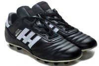 ingrosso scarpe outdoor messi-Nero / Bianco 100% originale Outdoor Mens scarpe da calcio Copa Mundial FG Messi Scarpe da calcio Hink caviglia Tacchetti Calcio