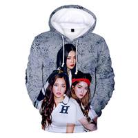 mode männer s hoodies koreanischen großhandel-Mode Neue 3D Print Red Velvet Koreanische band Hoodies Männer / Frauen 2019 Casual Print Red Velvet 3D Hoodies Harajuku Sweatshirt