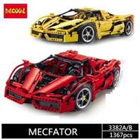 inşa edilmiş model arabalar toptan satış-DECOOL 3382A / B / 3423/3424 teknik formülü hız Şampiyonlar yarışçı araba setleri modeli yapı taşları şehir avion MOC F1 Enzoed 3333