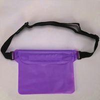 su geçirmez bel çantası çantası toptan satış-Yüzme Çanta PVC Su Geçirmez Kılıfı Ayarlanabilir Kayış Unisex Songkran Festivali Sualtı Bel Sürüklenme Dalış Telefonu Depolama Kayak