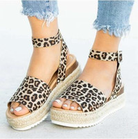 plus größe keilsandalen großhandel-Keile Schuhe Für Frauen High Heels Sandalen Sommer Schuhe 2019 Flop Chaussures Femme Plateausandalen 2019 Plus Size