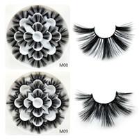 semi-cílios venda por atacado-Cílios Vison 3D Natural Cílios Postiços Extensão Dos Cílios Longos Falso Falso Lashes Maquiagem Cosméticos Ferramenta 7 Pairs / set RRA1114