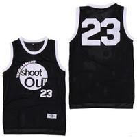 siyah adam kostümü toptan satış-Moive Turnuva Ateş 23 Motaw Ahşap Jersey Erkekler 96 Birdie Tupac Jant Üstü Siyah Basketbol Formaları Kostüm Çift Spor gömlek