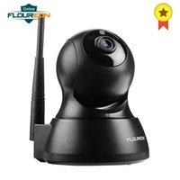 мегапиксельная внутренняя сетевая камера оптовых-FLOUREON Wifi 1.0 Мегапиксельная 720 P Беспроводная IP-камера безопасности CCTV Сеть ЕС Инфракрасная внутренняя IP-камера H.264 WIFI Ночного видения