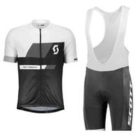 Wholesale yellow scott bicycles for sale - Group buy Men Bike Team SCOTT Cycling Jersey bib Shorts Set Short Sleeve MTB Bicycle uniform summer breathable quick dry racing sportswear a