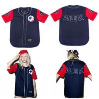 xxl männer uhren großhandel-Herren Damen The Varsity Keep Watch Baseball Trikot in Navy Jugend Trikots mit hoher Qualität