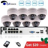 8ch ip kamera nvr großhandel-8-Kanal-5MP POE PTZ-System Kit H.265 CCTV-16ch NVR Indoor Wasserdicht 2.8-12mm 4-fach optischer Zoom IP-Kamera-Überwachung Video