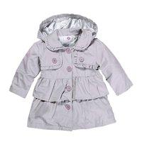 bebek ten kürkleri toptan satış-Çocuklar Kız Kadife Palto Yenidoğan Bebek Kız Dış Giyim Çocuk Giysi Tasarımcısı Kızlar Kapşonlu Uzun Kollu Dantel Düğme Katı 6