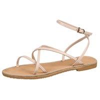 sevimli yaz stilleri toptan satış-2019 İlkbahar Yaz Yeni kadın Bayanlar Bohemia Stil Toka Düz Roma Plaj Sandalet Rahat Trim Sevimli Tatlı Ayakkabı